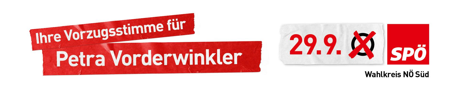 Petra Vorderwinkler Wiener Neustadt Neunkirchen Nationalratswahl
